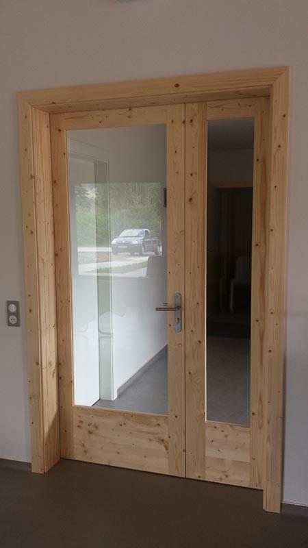 Porte int rieure en bois porte vitr e en bois atelier construction maison bois - Porte interieure vitree ...