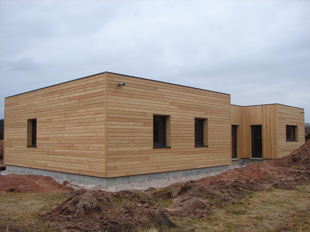 construction ossature bois maison contemporaine atelier