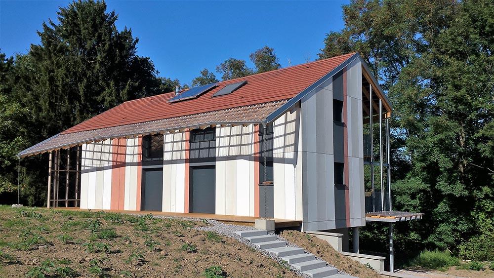 construction ossature bois maison contemporaine atelier construction maison bois