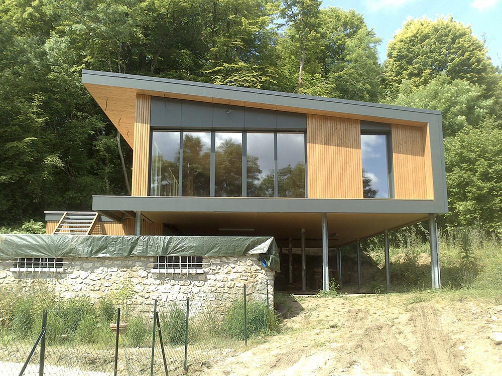 Construction ossature bois maison contemporaine ATELIER CONSTRUCTION MAISON BOIS # Maison Contemporaine Ossature Bois