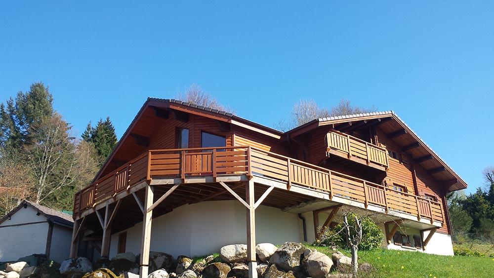 Extension de construction en ossature bois atelier construction maison bois for Construction en ossature bois