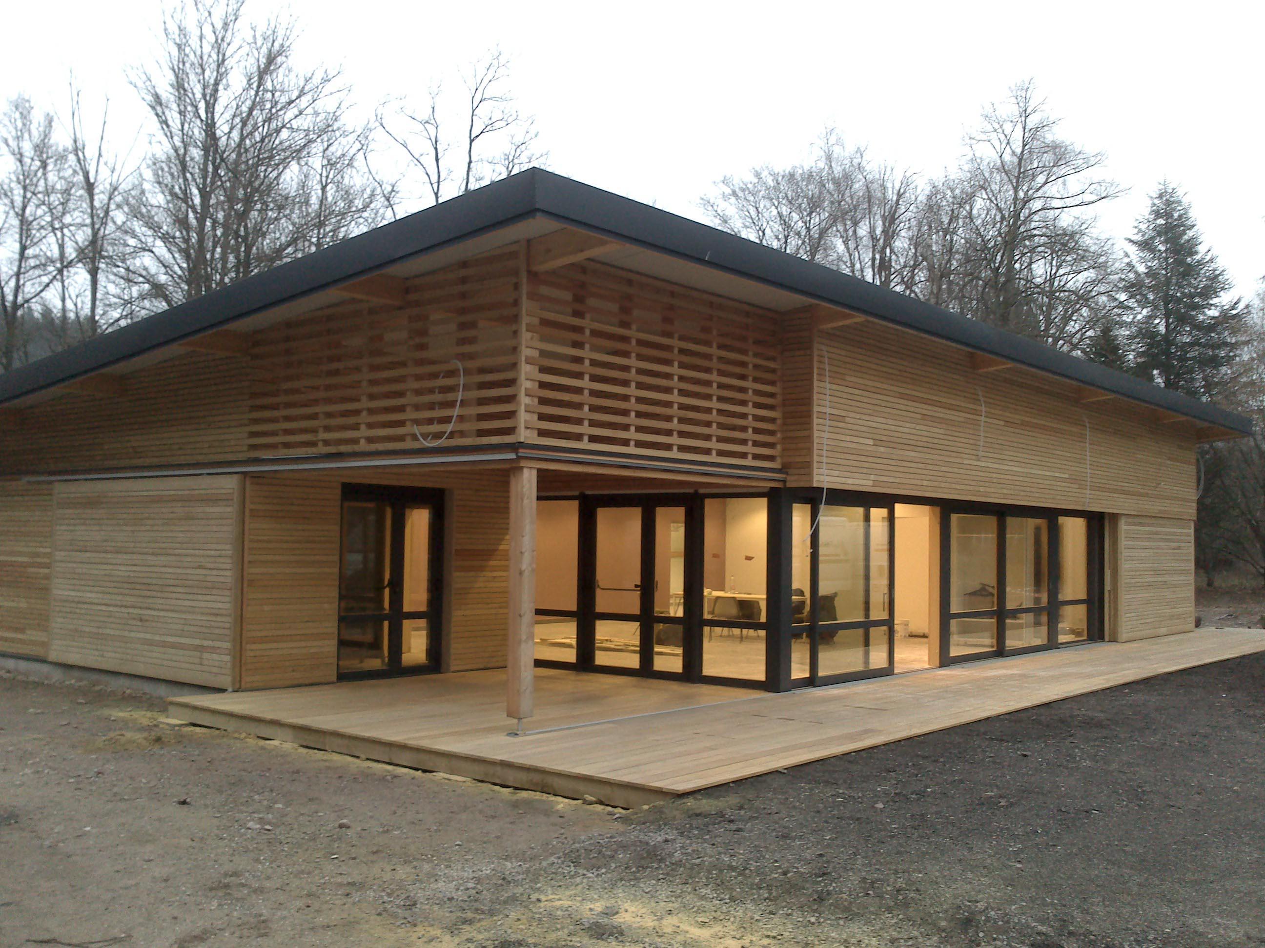 Construction ossature bois b timents publics atelier for Construction ossature bois