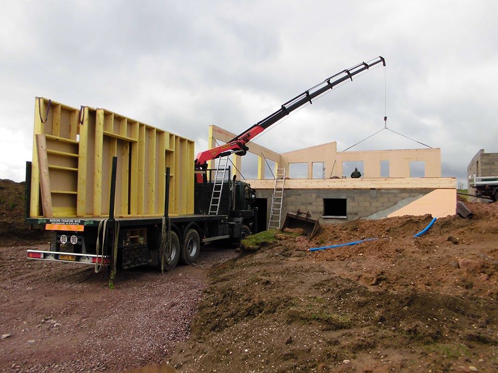 Savoir faire construction ossature bois suivi de chantier for Construction bois vosges