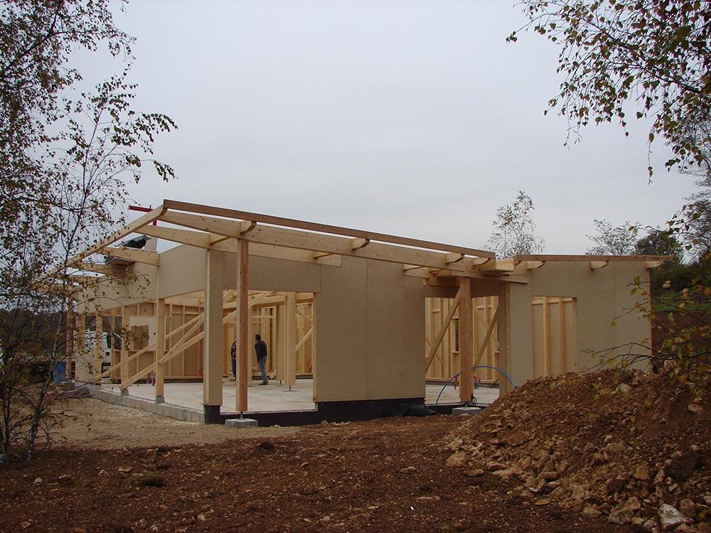 Constructeur ossature bois for Constructeur maison en bois 37