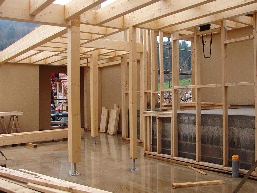 Savoir faire construction ossature bois suivi de chantier atelier construction maison bois for Construction bois 49